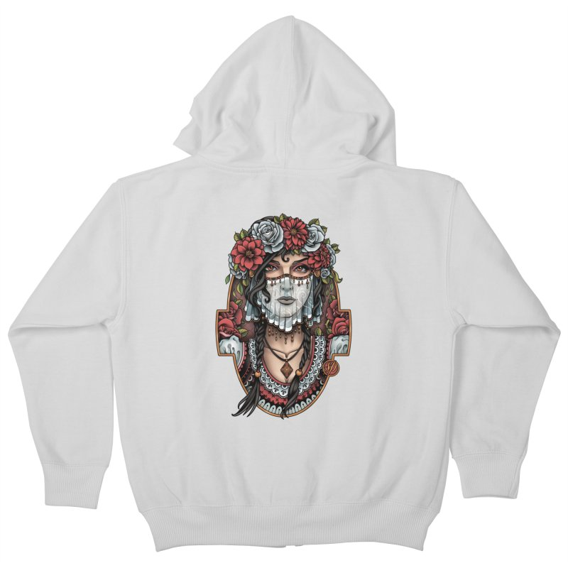Beautiful Bride Kids Zip-Up Hoody by Sam Phillips Illustration