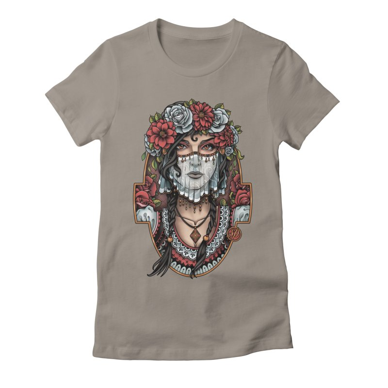 Beautiful Bride Women's Fitted T-Shirt by Sam Phillips Illustration