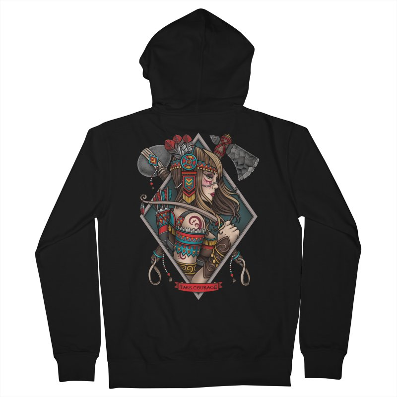 Take Courage Men's Zip-Up Hoody by Sam Phillips Illustration