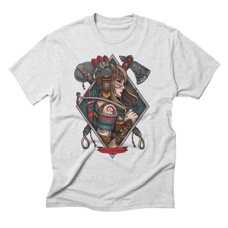 Take Courage Men's Triblend T-shirt by Sam Phillips Illustration