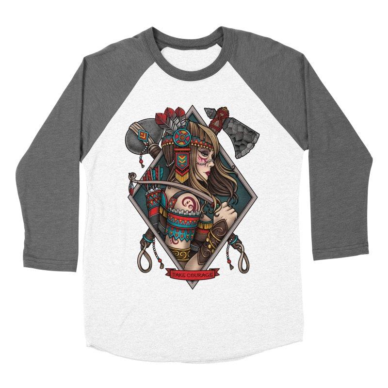 Take Courage Men's Baseball Triblend T-Shirt by Sam Phillips Illustration