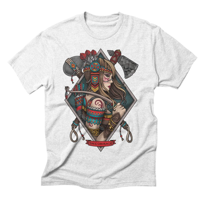 Take Courage Men's Triblend T-shirt by Sam Phillips Illustration