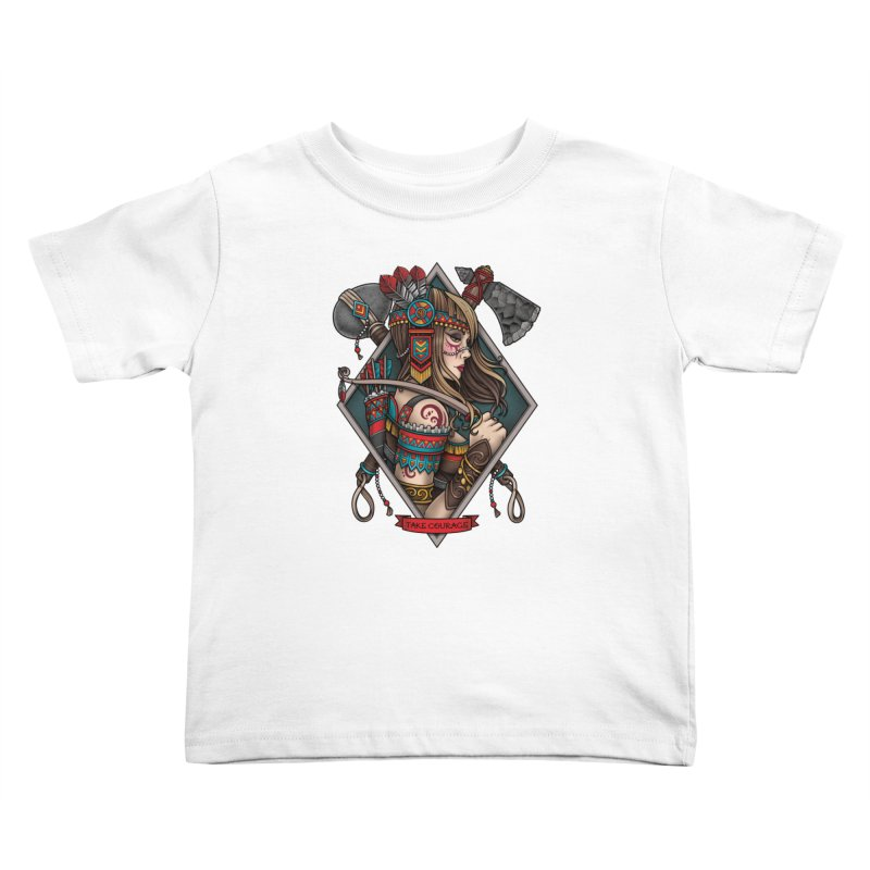 Take Courage Kids Toddler T-Shirt by Sam Phillips Illustration