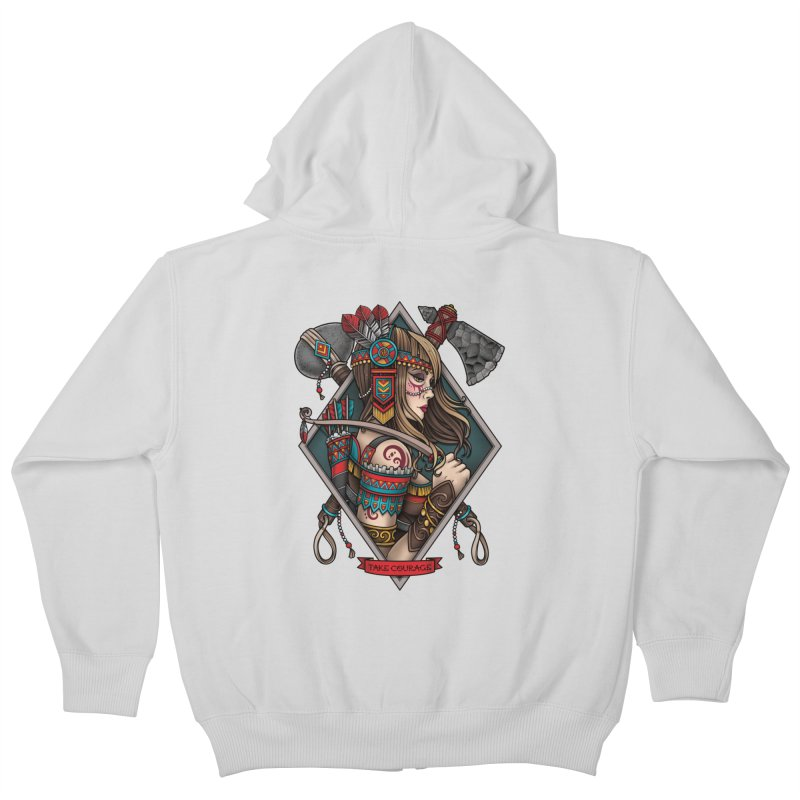Take Courage Kids Zip-Up Hoody by Sam Phillips Illustration
