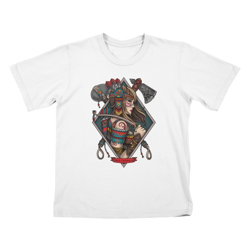Take Courage Kids T-shirt by Sam Phillips Illustration