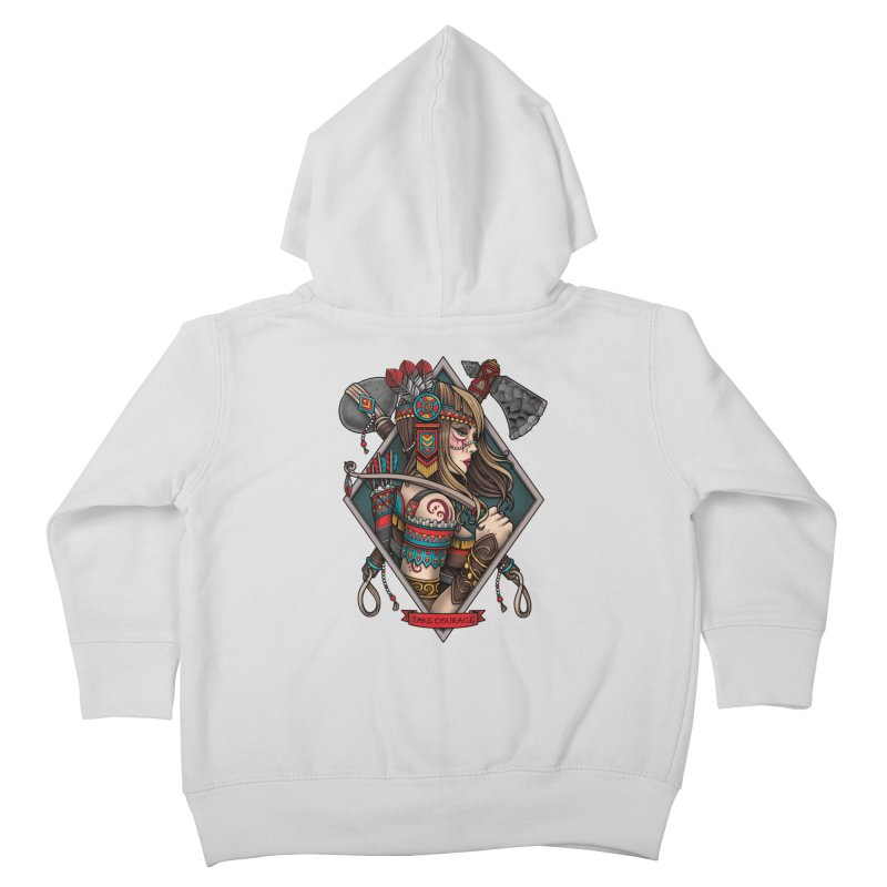 Take Courage Kids Toddler Zip-Up Hoody by Sam Phillips Illustration