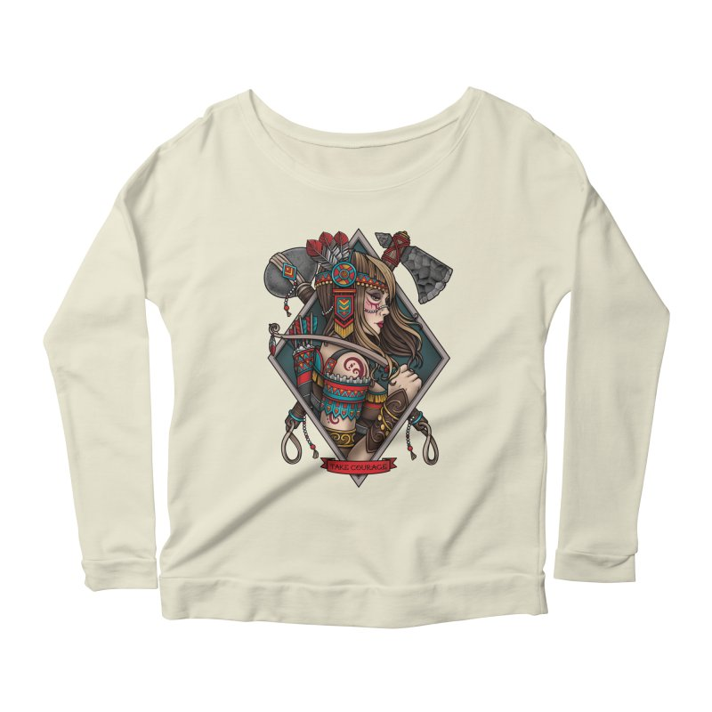 Take Courage Women's Longsleeve Scoopneck  by Sam Phillips Illustration