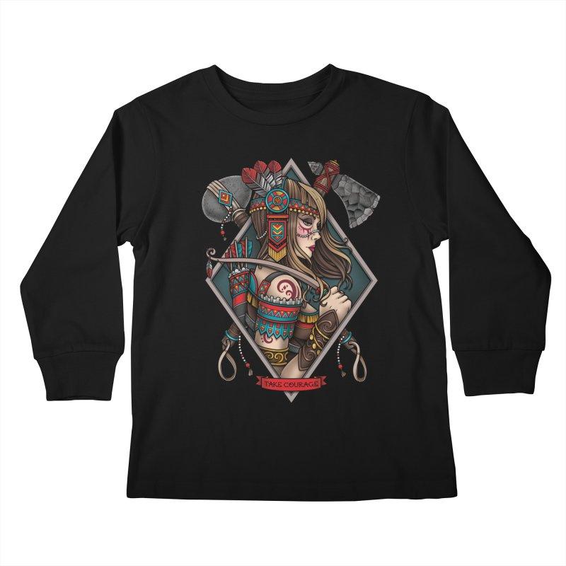 Take Courage Kids Longsleeve T-Shirt by Sam Phillips Illustration