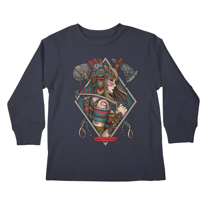 Take Courage Kids Longsleeve T-Shirt by Sam Phillips Illustration