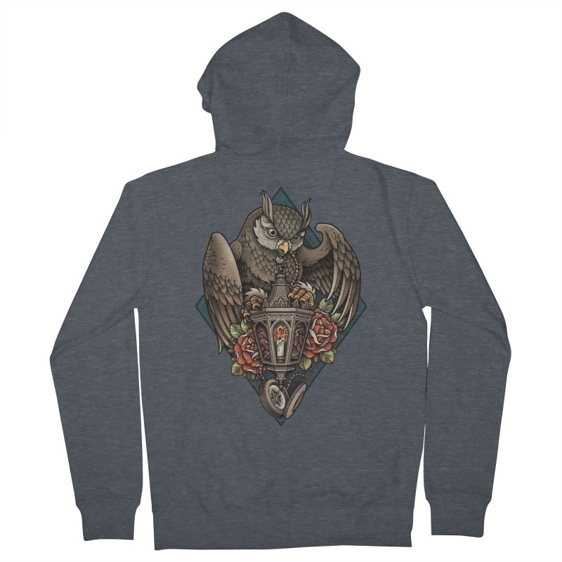 Owl Lantern Men's Zip-Up Hoody by Sam Phillips Illustration