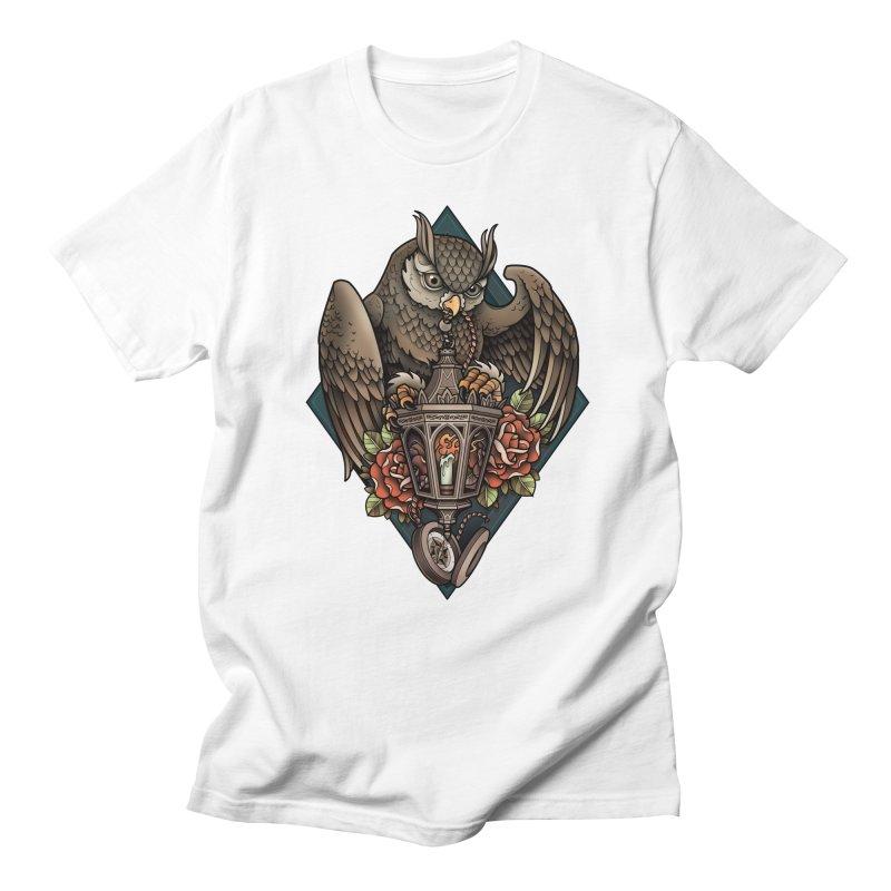 Owl Lantern Men's T-Shirt by Sam Phillips Illustration