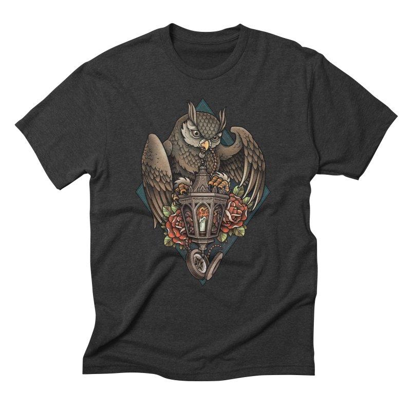Owl Lantern Men's Triblend T-shirt by Sam Phillips Illustration