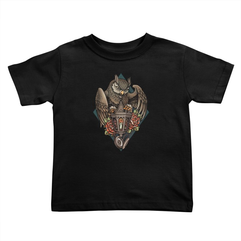 Owl Lantern Kids Toddler T-Shirt by Sam Phillips Illustration