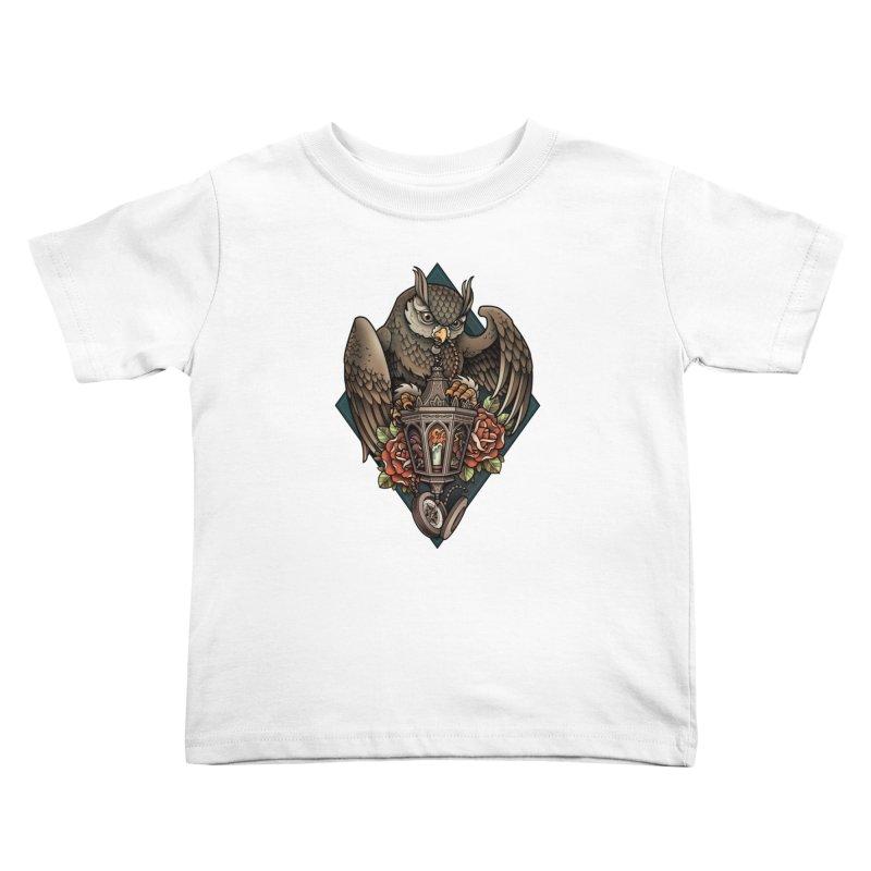 Owl Lantern Kids Toddler T-Shirt by Sam Phillips Illustration