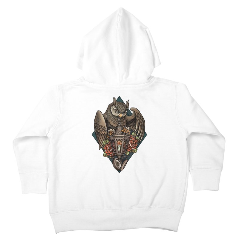 Owl Lantern Kids Toddler Zip-Up Hoody by Sam Phillips Illustration