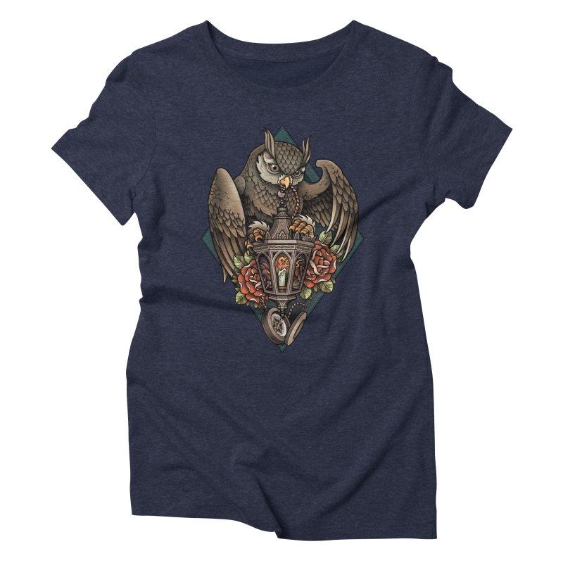Owl Lantern Women's Triblend T-shirt by Sam Phillips Illustration