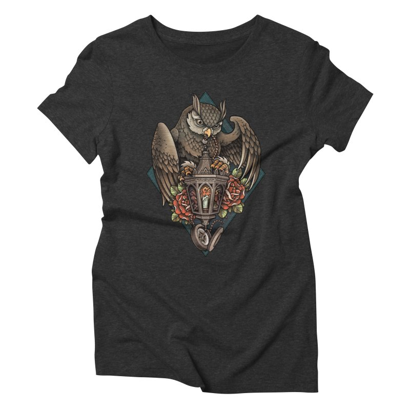 Owl Lantern Women's Triblend T-Shirt by Sam Phillips Illustration
