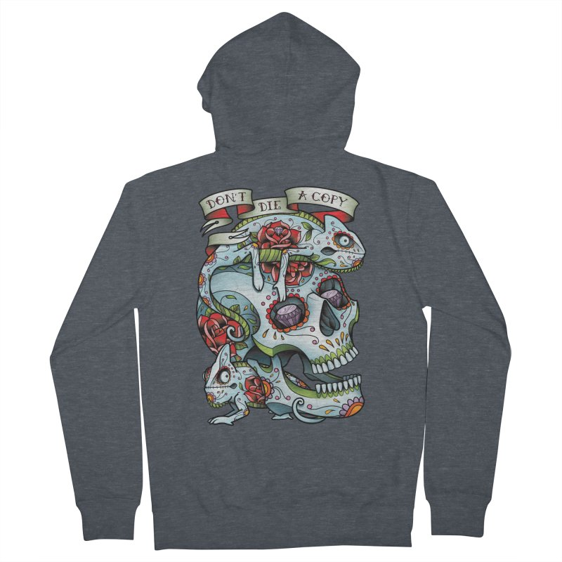 Don't Die A Copy Women's Zip-Up Hoody by Sam Phillips Illustration