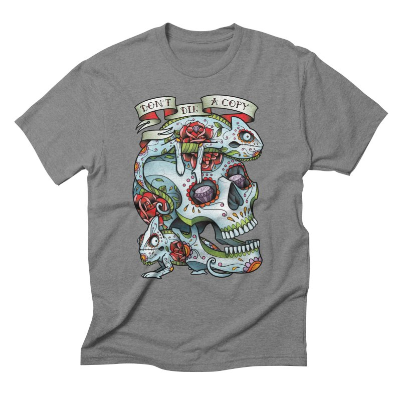 Don't Die A Copy Men's Triblend T-Shirt by Sam Phillips Illustration