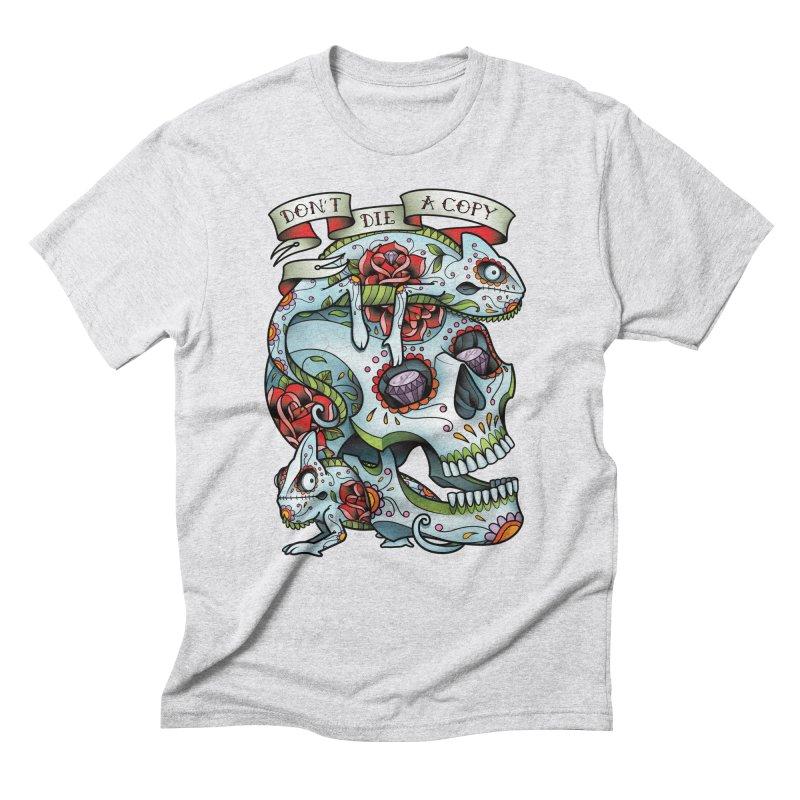 Don't Die A Copy Men's Triblend T-shirt by Sam Phillips Illustration