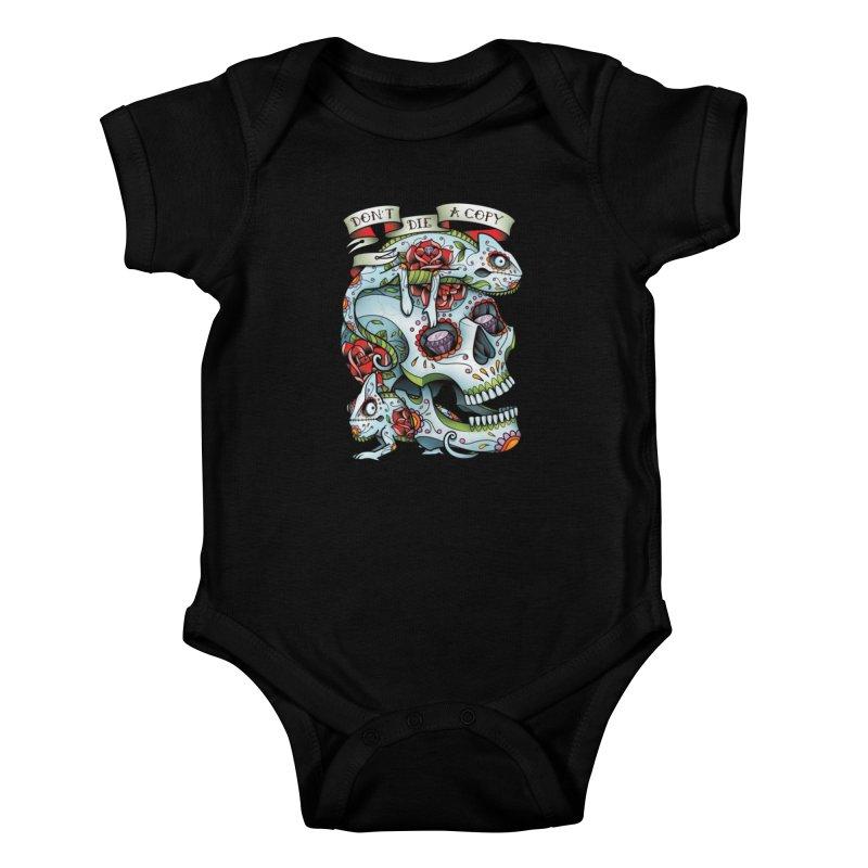 Don't Die A Copy Kids Baby Bodysuit by Sam Phillips Illustration