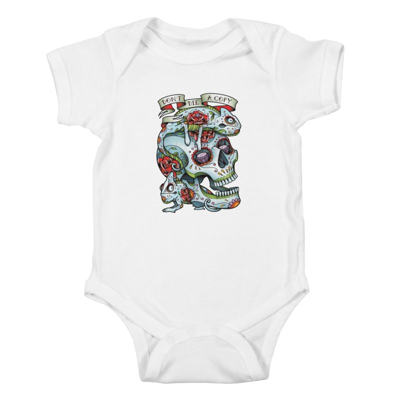 Don't Die A Copy Kids Baby Bodysuit by Sam Phillips Illustration
