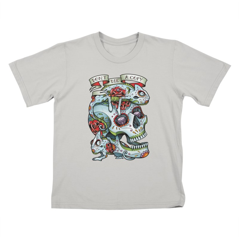 Don't Die A Copy Kids T-Shirt by Sam Phillips Illustration