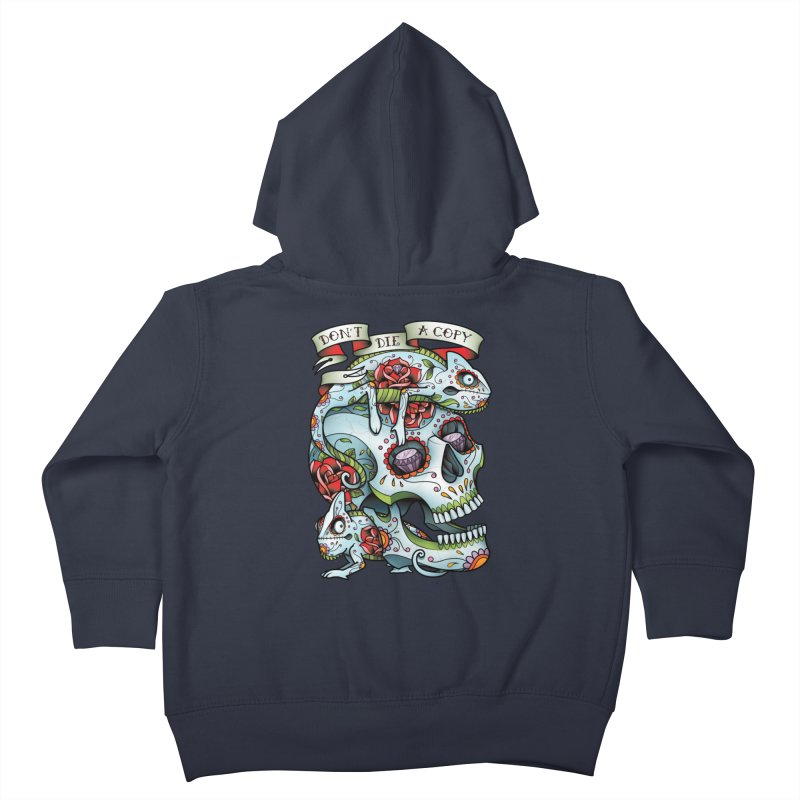 Don't Die A Copy Kids Toddler Zip-Up Hoody by Sam Phillips Illustration