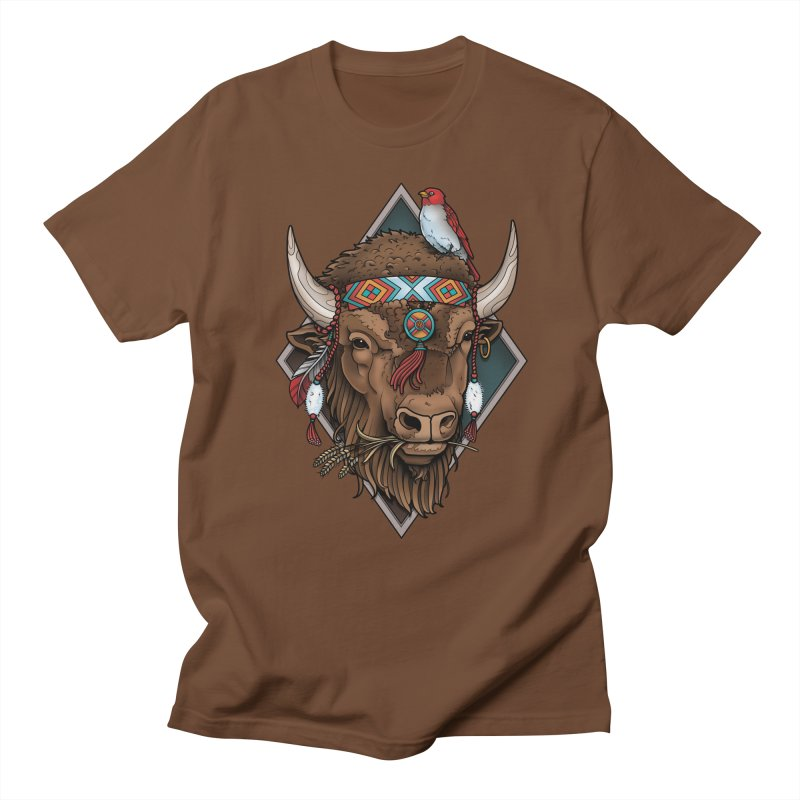 Buffalo Men's T-shirt by Sam Phillips Illustration