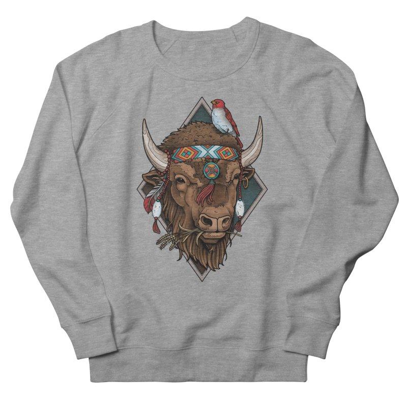 Buffalo Women's Sweatshirt by Sam Phillips Illustration
