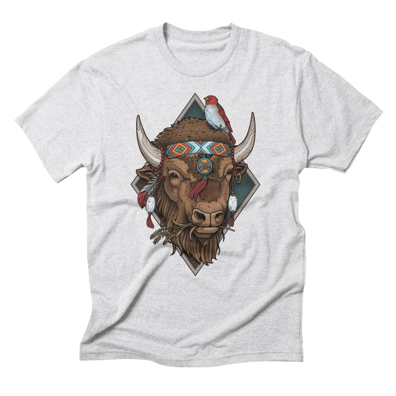 Buffalo Men's Triblend T-Shirt by Sam Phillips Illustration