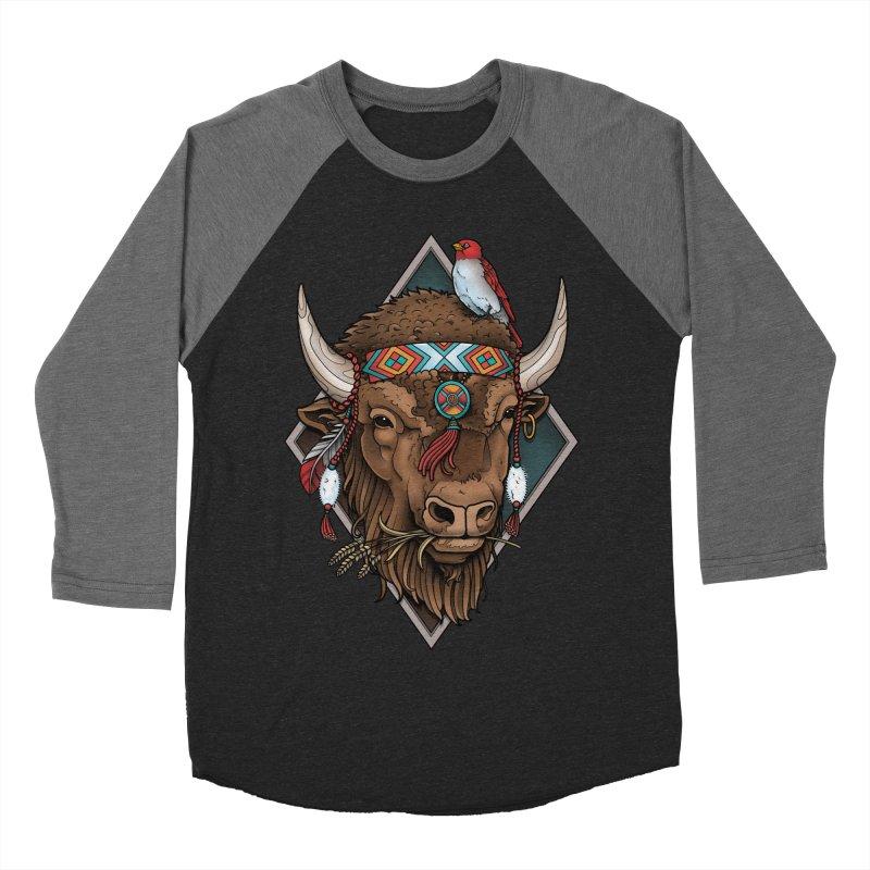Buffalo Men's Baseball Triblend T-Shirt by Sam Phillips Illustration