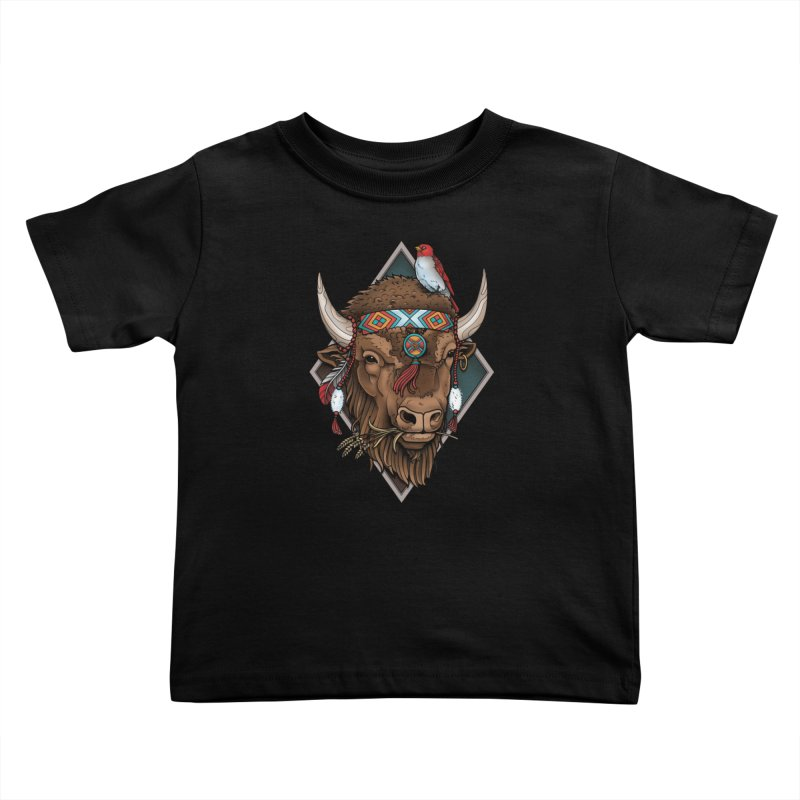 Buffalo Kids Toddler T-Shirt by Sam Phillips Illustration