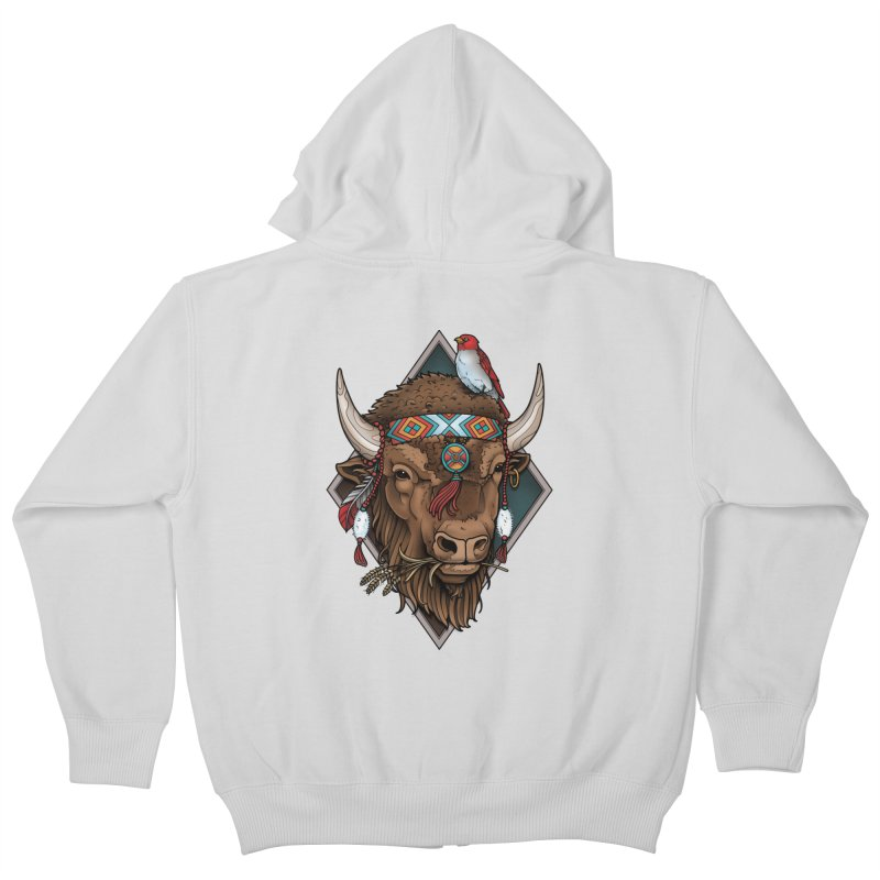 Buffalo Kids Zip-Up Hoody by Sam Phillips Illustration