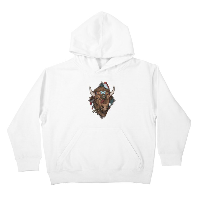 Buffalo Kids Pullover Hoody by Sam Phillips Illustration