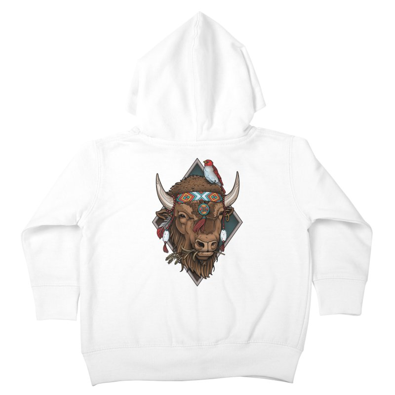 Buffalo Kids Toddler Zip-Up Hoody by Sam Phillips Illustration