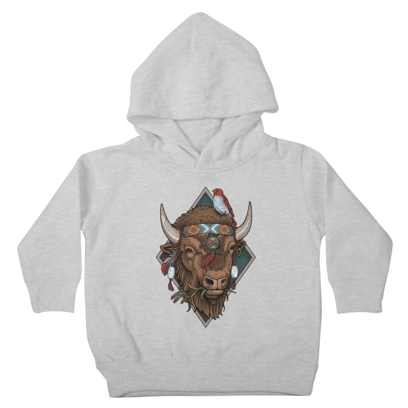 Buffalo Kids Toddler Pullover Hoody by Sam Phillips Illustration