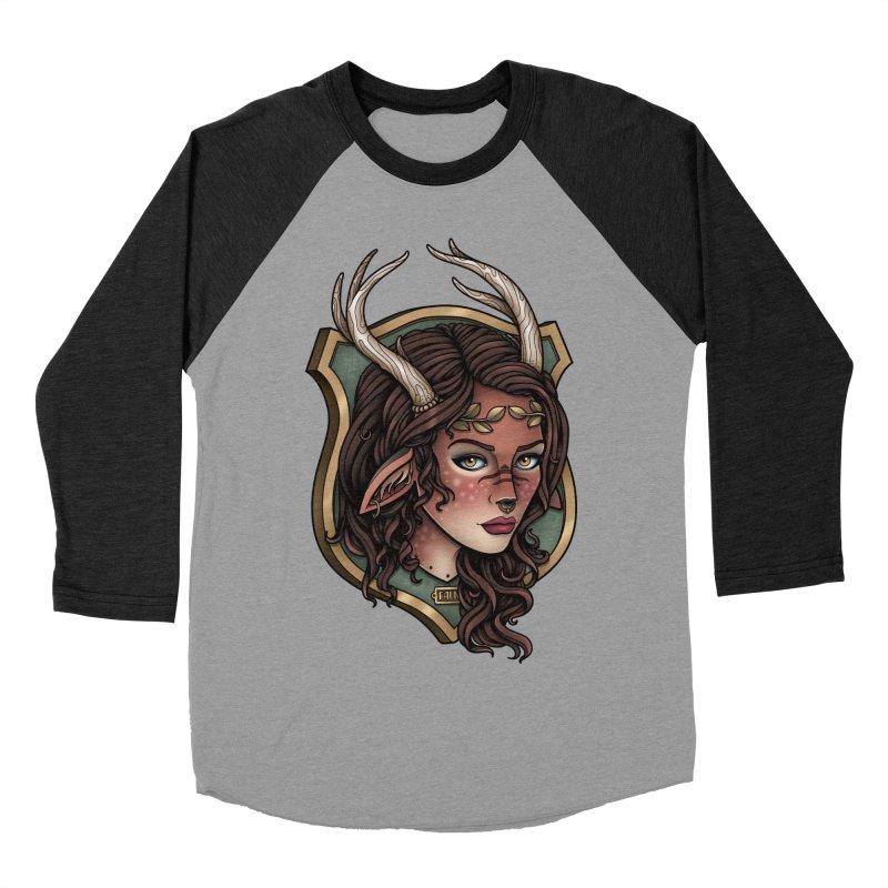 Faun Girl Men's Baseball Triblend T-Shirt by Sam Phillips Illustration
