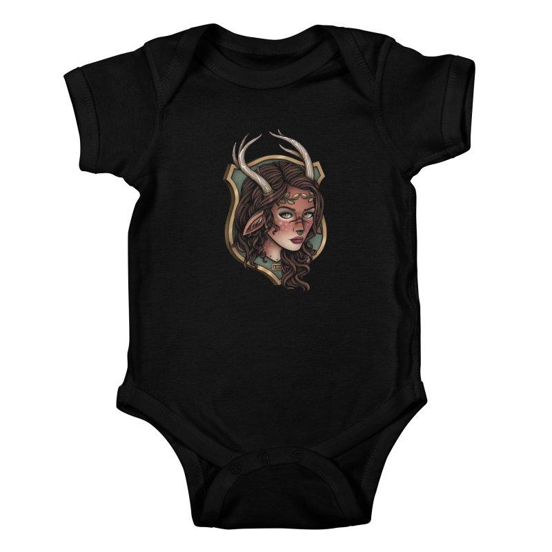 Faun Girl Kids Baby Bodysuit by Sam Phillips Illustration