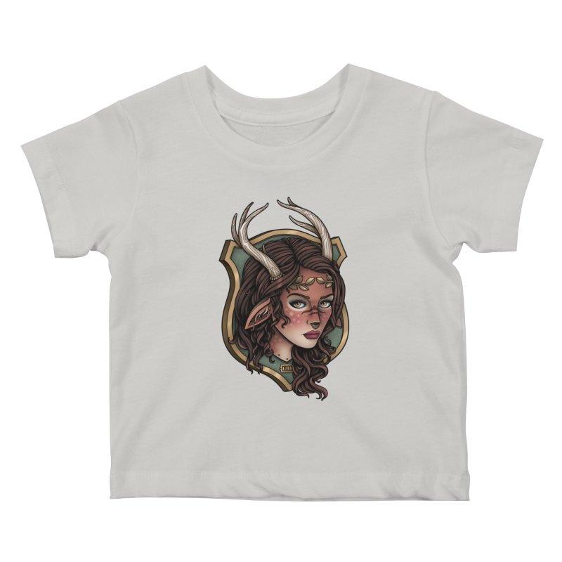 Faun Girl Kids Baby T-Shirt by Sam Phillips Illustration