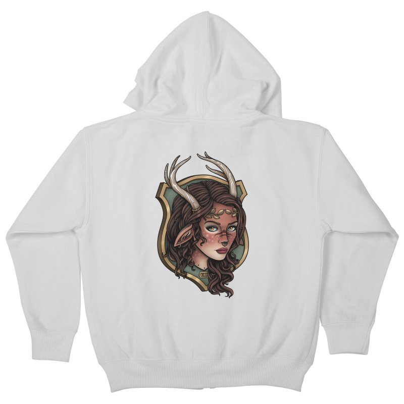 Faun Girl Kids Zip-Up Hoody by Sam Phillips Illustration