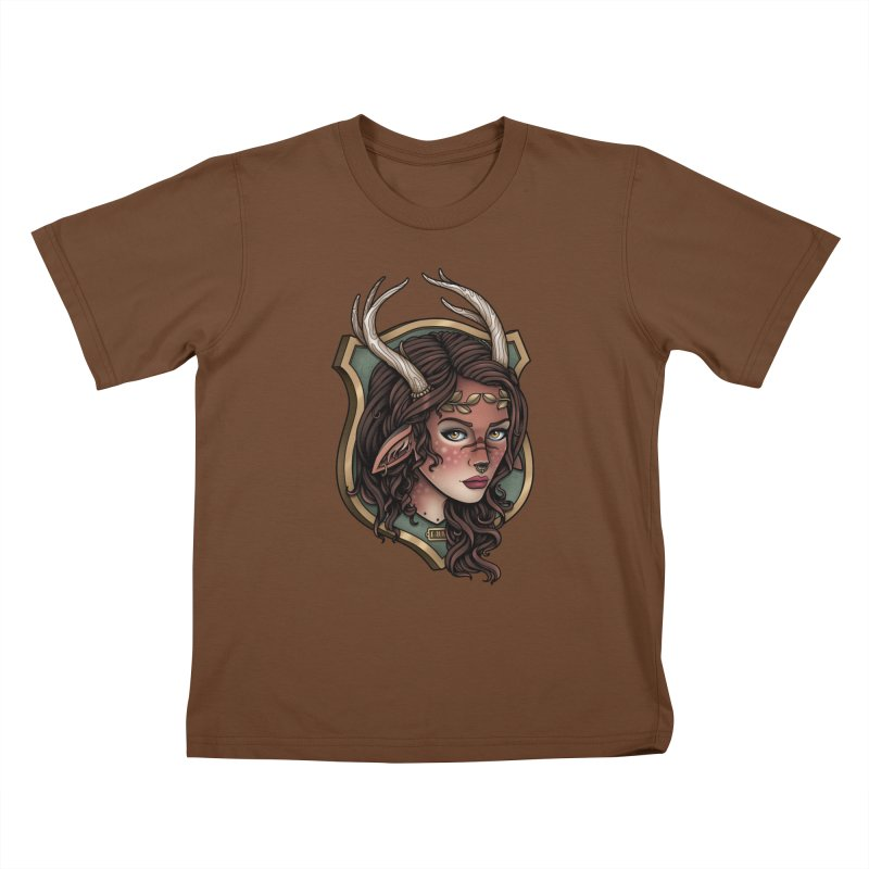 Faun Girl Kids T-Shirt by Sam Phillips Illustration