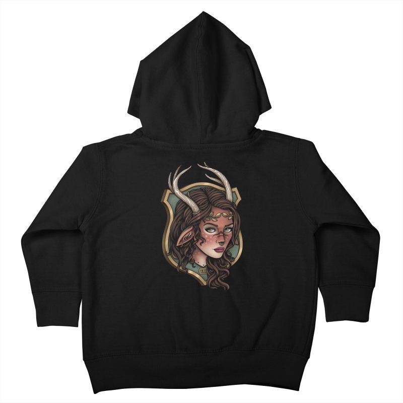 Faun Girl Kids Toddler Zip-Up Hoody by Sam Phillips Illustration
