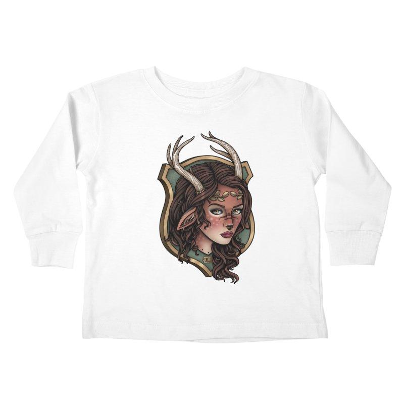 Faun Girl Kids Toddler Longsleeve T-Shirt by Sam Phillips Illustration