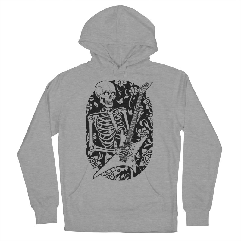 Skeleton Rocker Men's Pullover Hoody by Sam Phillips Illustration