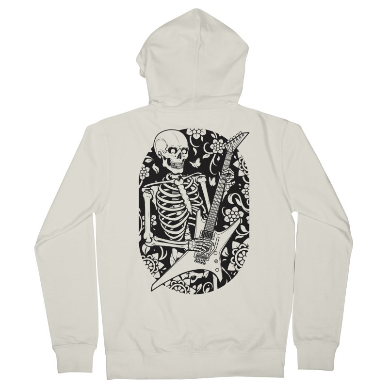 Skeleton Rocker Men's Zip-Up Hoody by Sam Phillips Illustration