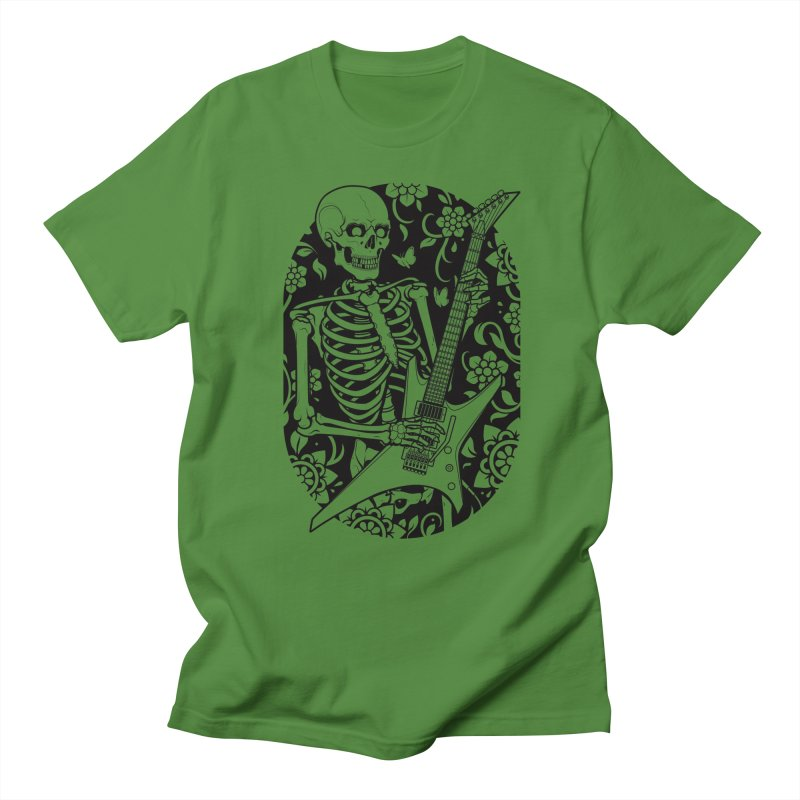 Skeleton Rocker Men's T-shirt by Sam Phillips Illustration