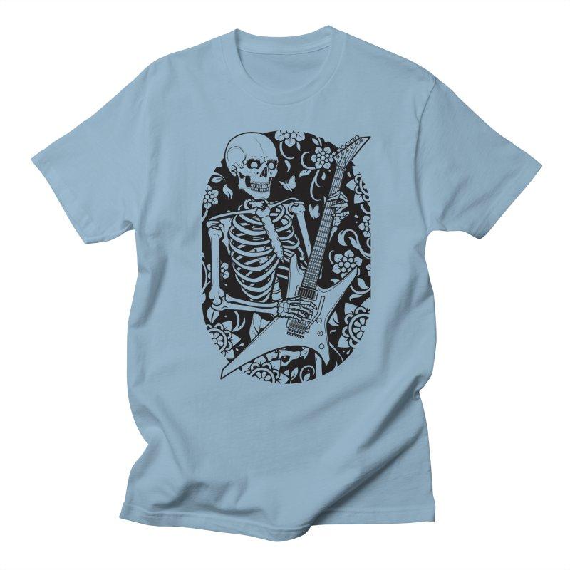 Skeleton Rocker Men's T-Shirt by Sam Phillips Illustration