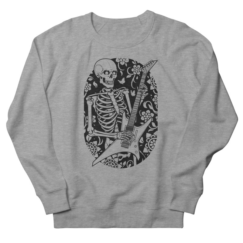 Skeleton Rocker Men's Sweatshirt by Sam Phillips Illustration