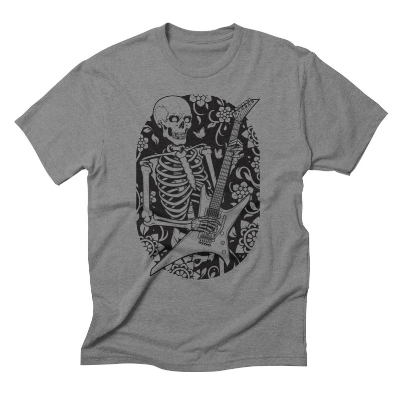 Skeleton Rocker Men's Triblend T-Shirt by Sam Phillips Illustration